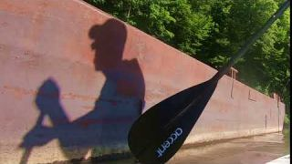 Paddle Boarding the River with Morning Sun Shadow -SUP Touring & Exploring